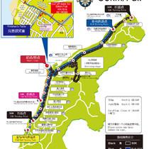 全马:50km线路图