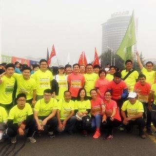 咕咚泰安跑团征战2015泰马