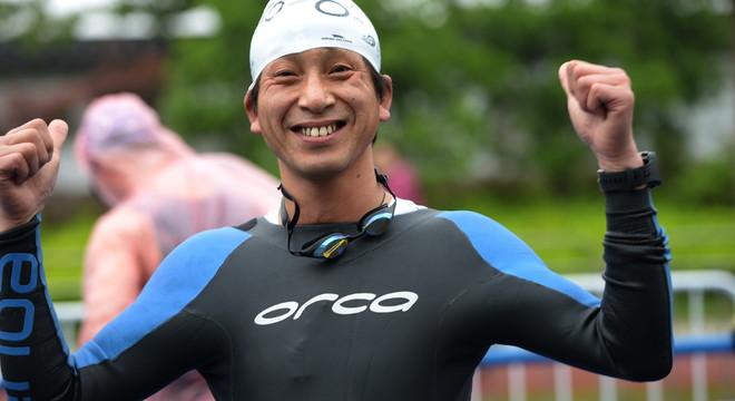 2014镇江铁三赛(游泳赛段)