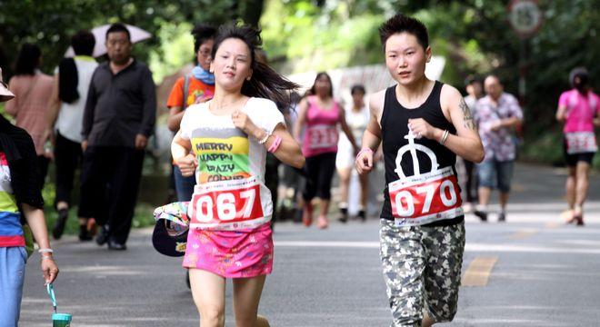 昆明西山女子10公里山地跑2014年8月