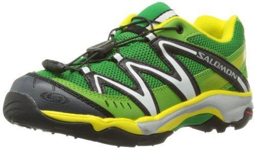 Salomon 萨洛蒙 童鞋系列 中性童 越野跑鞋SHOES XT WINGS K CLOVER GREEN/GR/YE