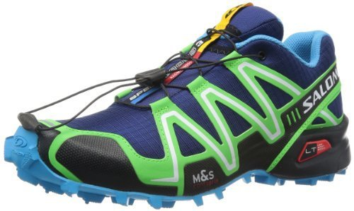 Salomon 萨洛蒙 男 越野跑鞋SHOES SPEEDCROSS 3 LAKE/FLUO GREEN/BL
