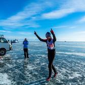 贝加尔湖冰上马拉松