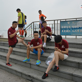 2015杭州城市接力赛——跑者合影