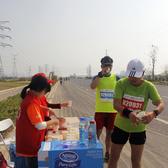 2015中国药城天翼杯秋季长跑比赛。志愿者