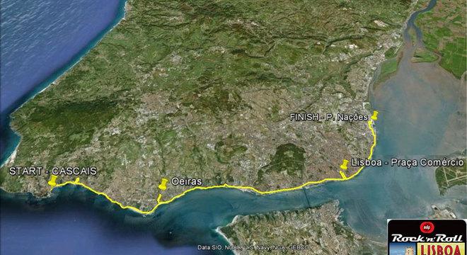 2014葡萄牙里斯本马拉松线路图