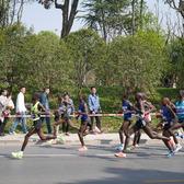 扬州马拉松14.5公里处拍摄