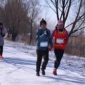 2016北京赛拉松户外队相聚野鸭湖冰雪马拉松