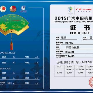 杭州马拉松成绩单