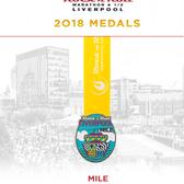 2018利物浦摇滚马拉松奖牌(图片均来自官方脸书)