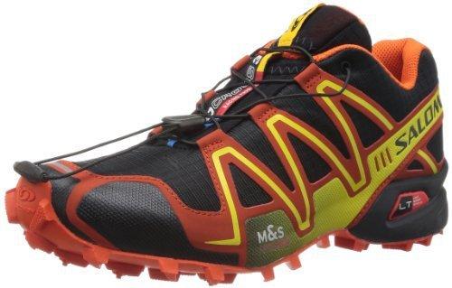 Salomon 萨洛蒙 男 越野跑鞋SHOES SPEEDCROSS 3 BLACK/OR/YE