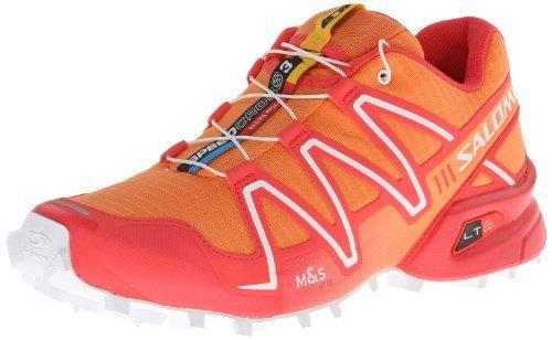 Salomon 萨洛蒙 女 越野跑鞋SHOES SPEEDCROSS 3 W OR/PAPAY/WH
