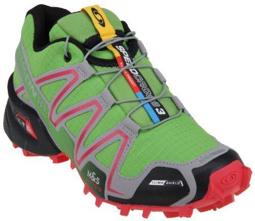 Salomon 萨洛蒙 Speedcross 3 CS W 女子越野跑鞋,豆绿色,