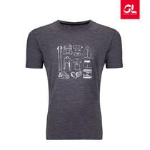 GearLab EDC羊毛速干短袖印花T恤 男女同款