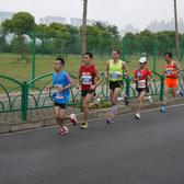 2015上海半程马拉松,耀江路(友诚路),约11公里处
