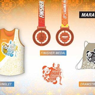 2018年普吉岛乐古浪马拉松官方奖牌及完赛包照片(图片均来自赛事官方脸书)