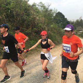 2017宁波山地马拉松五湖坝边上山小路