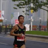 2017广州马拉松自柔跑17公里补给点