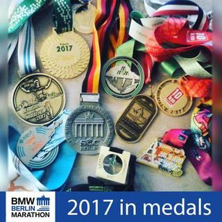 2017柏林马拉松官方奖牌照片