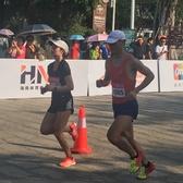 2018三亚国际马拉松天涯海角段照片