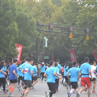 2017杭州马拉松40公里处