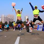 上海马拉松终点-摄影师:王仲明