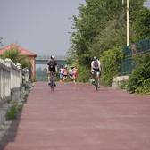 第二届北京妫河女子半程马拉松12.5公里处